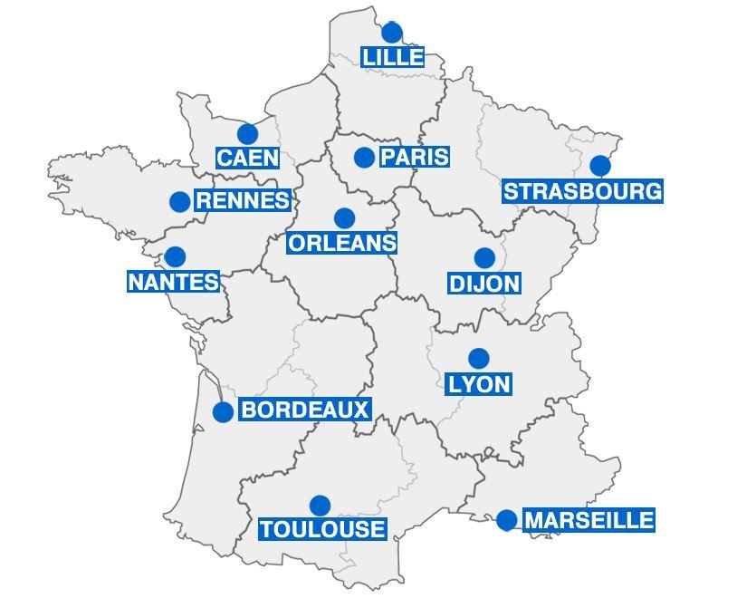 Les futures préfectures de régions