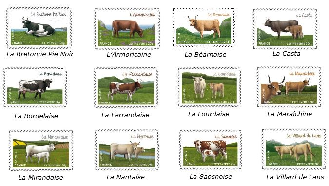 Salon de l 39 agriculture la poste timbres vaches - Salon des vignerons independants rennes ...